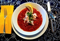 Gazpacho with Crab & Shrimp