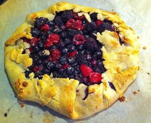 Galette with Blueberries, Raspberries & Blackberries