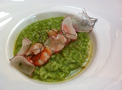 Risotto with prawns, preserved lemon and tarragon
